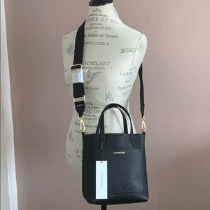 NWT Calvin Klein Genuine Leather Crossbody
